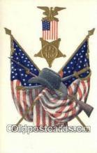 pat001327 - Patriotic, Old Vintage Antique Postcard Post Card