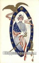 pat001330 - Patriotic, Old Vintage Antique Postcard Post Card