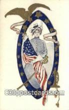 pat001331 - Patriotic, Old Vintage Antique Postcard Post Card