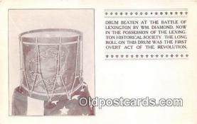 pat100003 - Drum Beaten, Battle of Lexington WM Diamond Postcard Post Card