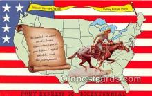 pat100005 - Pony Express 76 Bicentennial Mount Vernon, Wash Postcard Post Card
