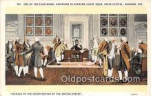 pat100008 - Signing of the Constitution of the USA Madison, Wis Postcard Post Card