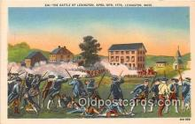 pat100015 - Battle of Lexington Lexington, Mass Postcard Post Card