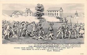 pat100016 - Battle of Lexington Capt Parker Postcard Post Card