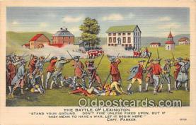 pat100017 - Battle of Lexington Capt Parker Postcard Post Card