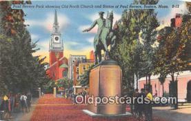 pat100019 - Paul Rever Park Boston, Massachusetts Postcard Post Card