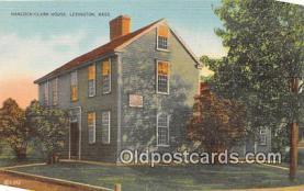 pat100020 - Hancock Clark House Lexington, Mass Postcard Post Card
