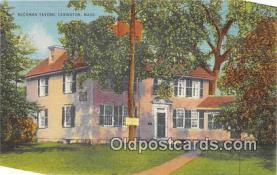 pat100021 - Buckman Tavern Lexington, Mass Postcard Post Card