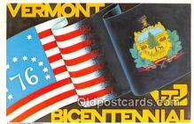 pat100037 - Bicentennial Vermont Postcard Post Card