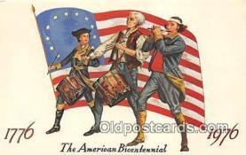 pat100039 - American Bicentennial 1776-1976  Postcard Post Card