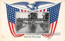 pat100043 - Patriotic Greetings  Postcard Post Card