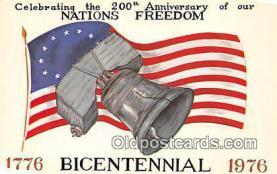 pat100047 - American Bicentennial 1776-1976  Postcard Post Card