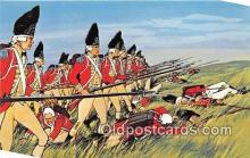pat100050 - Battle of Bunker Hill, June 17, 1775 Boston, Massachusetts Postcard Post Card