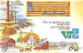pat100052 - Vermont Bicentennial  Postcard Post Card