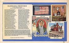 pat100055 - Barbara Fritchie  Postcard Post Card