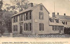 pat100058 - Hancock - Clark House, John Hancock & Samuel Adams Lexington, Mass Postcard Post Card