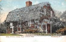 pat100061 - Betsy Williams Cottage Roger Williams Park Providence, RI Postcard Post Card