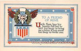 pat100065 - Uncle Sam  Postcard Post Card
