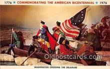 pat100068 - American Bicentennial 1776-1976 Washington Crossing the Delaware Postcard Post Card
