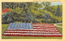pat100073 - American Flag, Elizabeth Park Hartford, Conn Postcard Post Card
