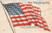 pat100077 - Your Flag & My Flag  Postcard Post Card