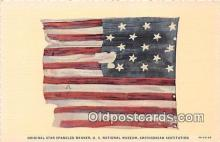 pat100078 - Original Star Spangled Banner, US National Museum Smithsonian Institution Postcard Post Card