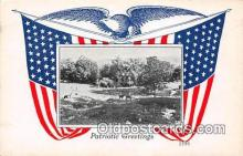 pat100081 - Patriotic Greetings  Postcard Post Card