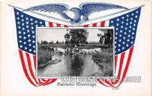 pat100094 - Patriotic Greetings  Postcard Post Card