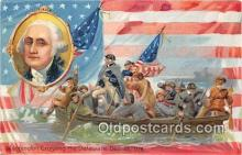 pat100098 - Washington Crossing the Delaware Dec 25, 1776 Postcard Post Card