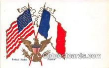 pat100110 - United States France Postcard Post Card