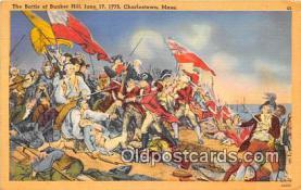 pat100117 - Battle of Bunker Hill, June 17, 1775 Charlestown, Mass Postcard Post Card