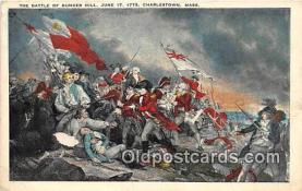 pat100118 - Battle of Bunker Hill, June 17, 1775 Charlestown, Mass Postcard Post Card