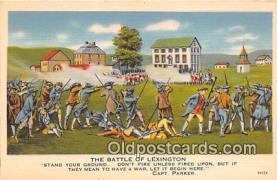 pat100119 - Battle of Lexington Capt Parker Postcard Post Card
