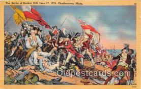 pat100120 - Battle of Bunker Hill, June 17, 1775 Charlestown, Mass Postcard Post Card