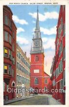 pat100170 - Old North Church, Salem Street Boston, Massachusetts Postcard Post Card