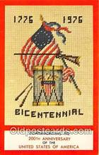 pat100191 - Bicentennial 1776-1976  Postcard Post Card