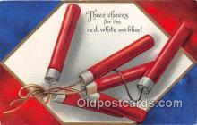 pat100204 - Red White & Blue  Postcard Post Card