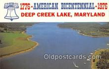 pat100211 - American Bicentennial 1776-1976 Deep Creek Lake, Maryland Postcard Post Card