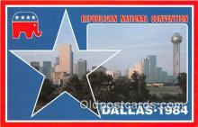 pat100213 - Republican National Convention Dallas, Texas 1984 Postcard Post Card