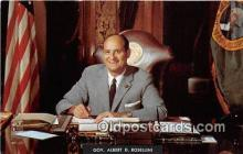 pat100216 - Gov Albert D Rosellini Democrat Postcard Post Card