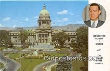 pat100218 - Governor Robert E Smylic Idaho State Capitol Postcard Post Card