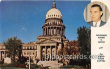 pat100230 - Governor Robert E Smylic Idaho State Capitol Postcard Post Card