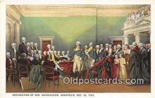 pat100236 - Resignation of Gen Washington Annapolis, Dec 23, 1783 Postcard Post Card