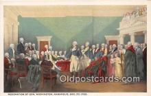 pat100237 - Resignation of Gen Washington Annapolis, Dec 23, 1783 Postcard Post Card