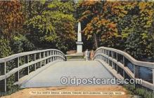 pat100243 - Old North Bridge, Battleground Concord, Mass Postcard Post Card