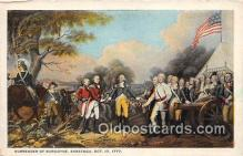 pat100245 - Surrender of Burgoyne Saratoga, Oct 17, 1777 Postcard Post Card