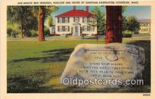 pat100246 - Minute Men Memorial Boulder Lexington, Mass USA Postcard Post Card