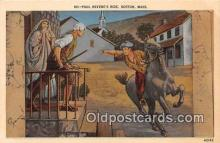 pat100247 - Paul Revere's Ride Boston, Massachusetts USA Postcard Post Card