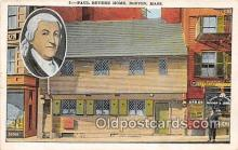 pat100248 - Paul Revere Home Boston, Massachusetts USA Postcard Post Card