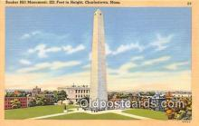 pat100249 - Bunker Hill Monument Charlestown, Mass USA Postcard Post Card